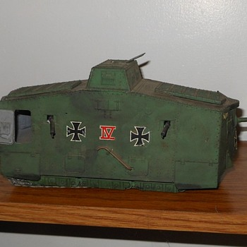 German A7V Tank WWI Tank Model - Military and Wartime