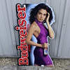 1991 Budweiser Model with purple dress