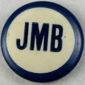 Vintage Pinback Button Idenification Help Political Campaign Pin? Initials JMB