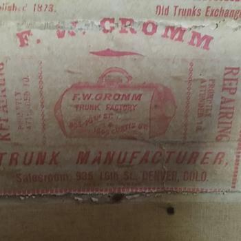 Trunk F.W. Gromm - Furniture