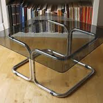 Smoked glass coffee table - Furniture