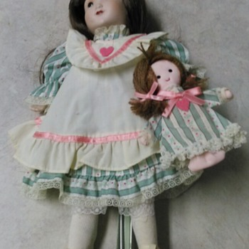 HOLLY HOBBIE DOLL AND BABY BY GORHAM - Dolls