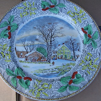 Colorful collector plate - China and Dinnerware