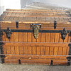 Oak Slat 1890's Clinton Wall Trunk