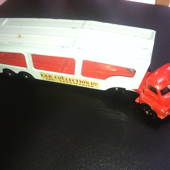This Matchbox auto carrier was difficult to find.