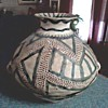 Unusual Large Native American Style Clay Handled Pot / Unknown Make and Age