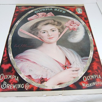 1910 Olympia Beer Lithograph