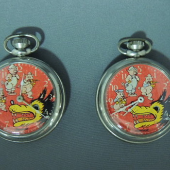 1930s 3 little pigs  big bad wolf time piece collection - Pocket Watches