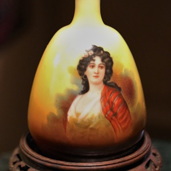 Austrian Portrait Vase by Robert Hanke - repaired - Pottery