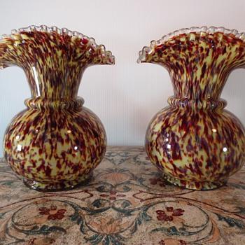 Spater Glass Vases - Art Glass