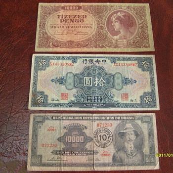 World Paper money - World Coins