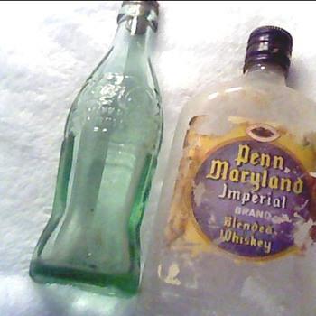 Whiskey Bottle Unknown/Coke bottle 1923