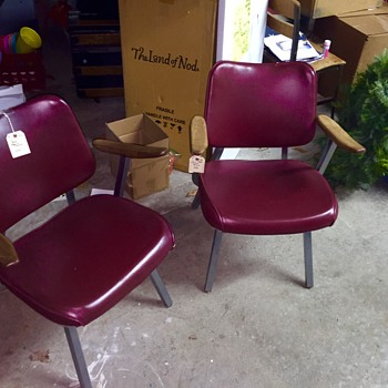 Royal Metal Co Mid Century chairs