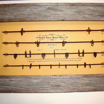 1867 BARBED WIRE - ONE OF THE EARLIEST PATENTS