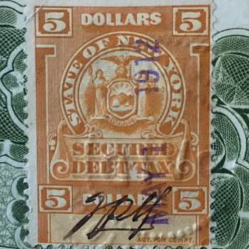 1912 Railroad Bond and Stamp