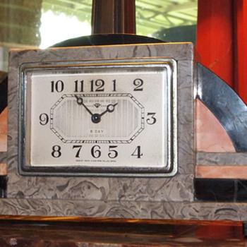 1925-35 Tokyo Clock Mfg Art Deco Clock