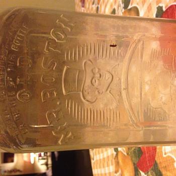 Old Mr Boston Glass bottle unopened - Bottles