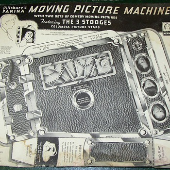 PILLSBURY FARINA 3 STOOGES MOVIE PAPER CUTOUT PROJECTOR