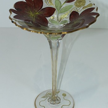 Bohemian Tazza (Moser)? - Art Glass