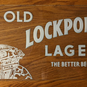 1876 to 1905 back painted Beer Sign - Signs