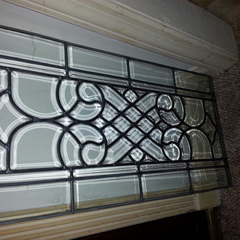 Clear leaded glass window