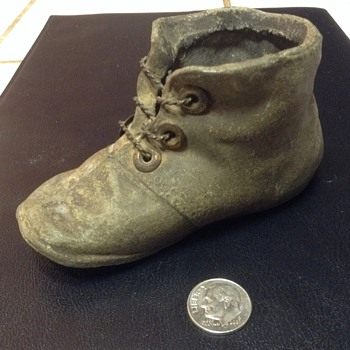 Bronzed baby boot
