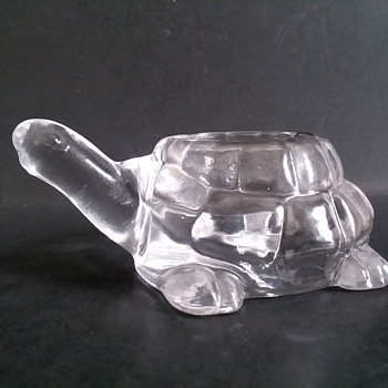 Mystery glass turtle votive candle holder - Glassware