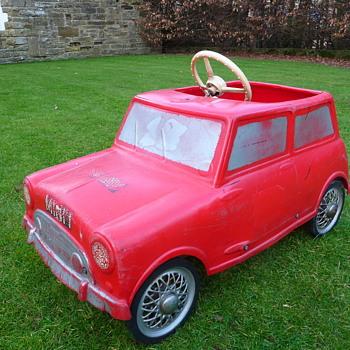 1960s Leeway Mini Cooper Pedal Car  - Model Cars