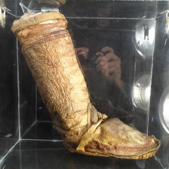 Native American Snake Skin Moccasin