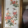 Large Canvas Flower Oil Painting With Frame