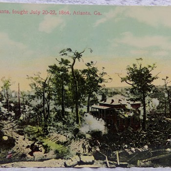 Battle of Atlanta, Real-Photo Postcard - Postcards