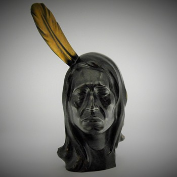 Richard Rohac Native American Bronze Bust, circa 1950 - Fine Art