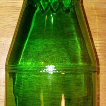 Green glass jar  - Bottles