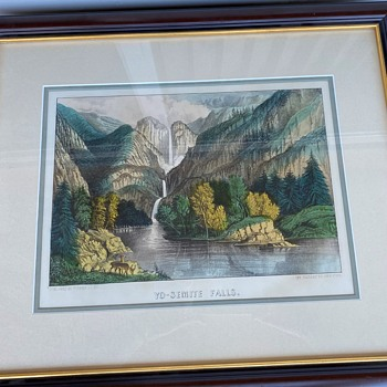 1865 Currier & Ives Yo-Semite Falls - Posters and Prints