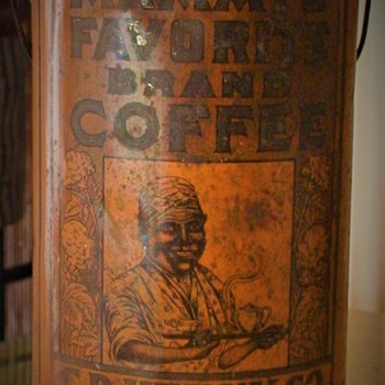 Black Americana Antique Coffee Tin - Advertising