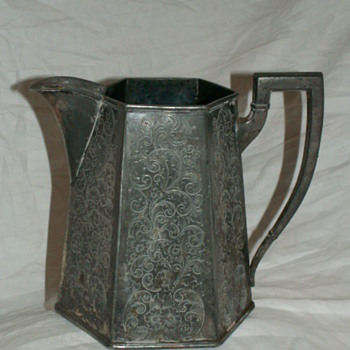 Victorian 1915-1920 Forbes Silver Co. USA Water Jug 908 - Silver