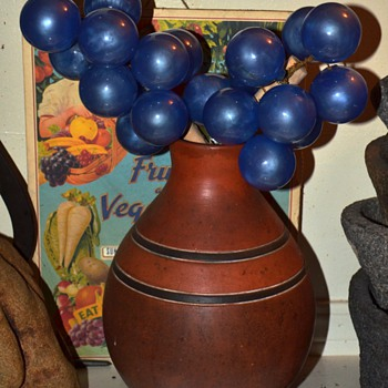 Giant Blue Glass Grapes?! - Art Glass