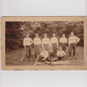 Early Milford NH Baseball Team Cabinet Photo
