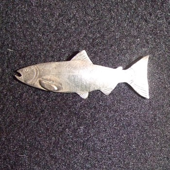 Vintage Chinook Salmon brooch - Fine Jewelry