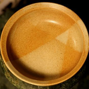 Iron Mountain Stoneware Bowl - Roan Mountain Pattern - Mid-Century Modern