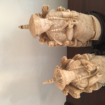 Ivory Emperor and Empress  - Asian