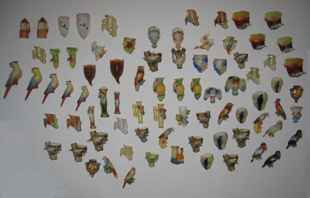 Czech bird wall pockets