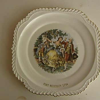 Fort Necessity Plate 1854 - 22K Gold Trim - by Historic Ware  - China and Dinnerware