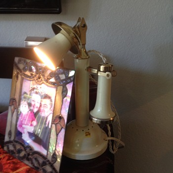 Candlestick Phone that is a Lamp - Telephones