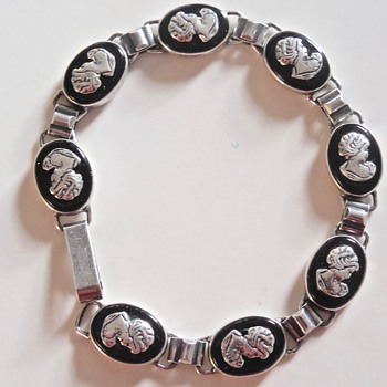 Silver and Onyx Cameo Bracelet - Fine Jewelry