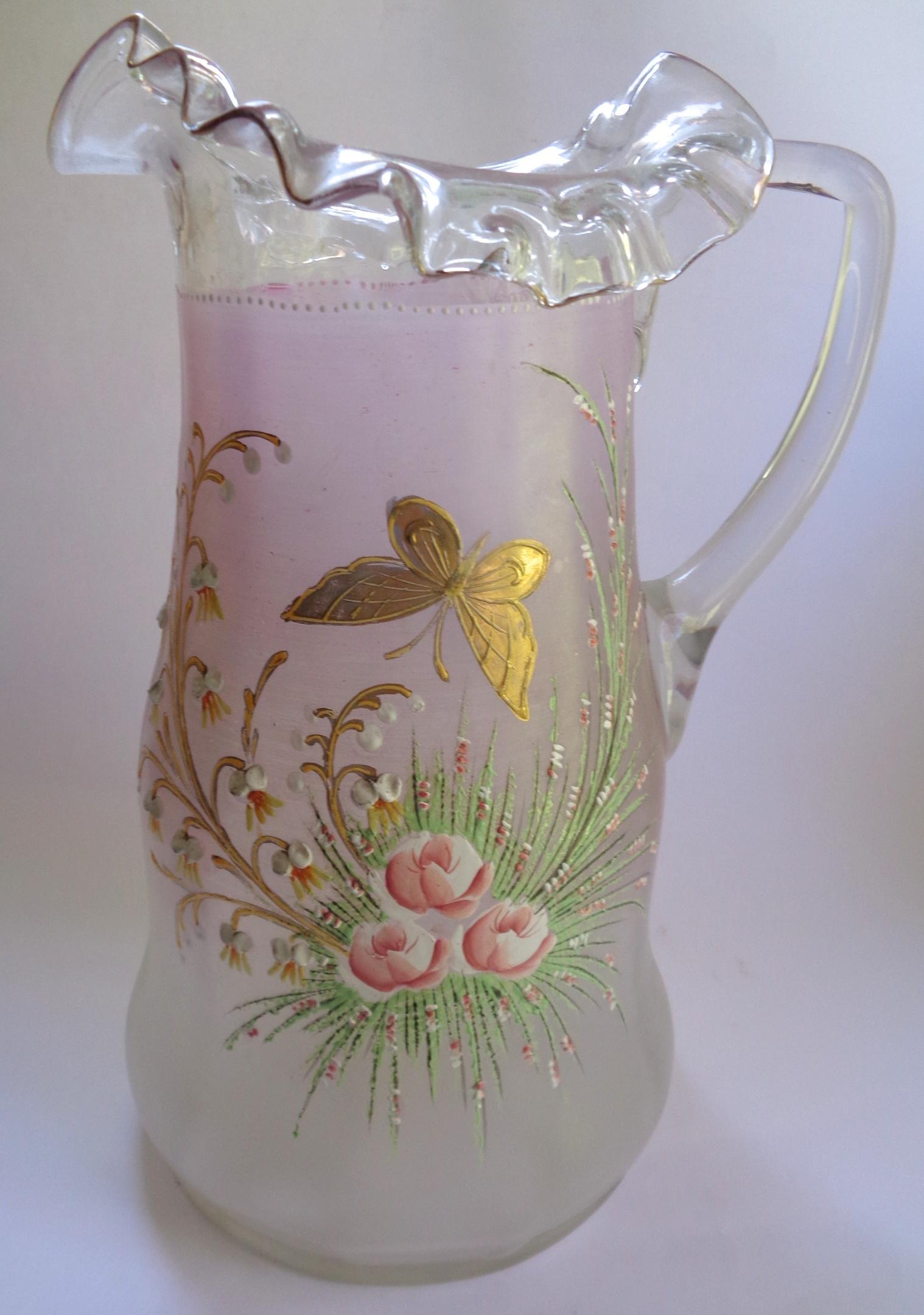 VICTORIAN GLASS JUG