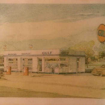 gulf service station drawing ?