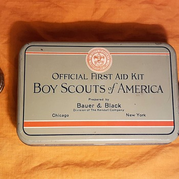 Saturday Evening Scout Post Bauer and Black Boy Scouts of America First Aid Kit 1930s - Advertising