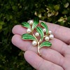 Trifari Mistletoe Brooch - Under the Sea Collection