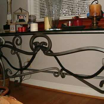 Pulaski Console Table-Iron-Glass - Furniture